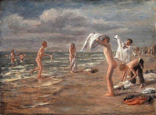 Boys Bathing - Young Boys Bathing At Zandvoort