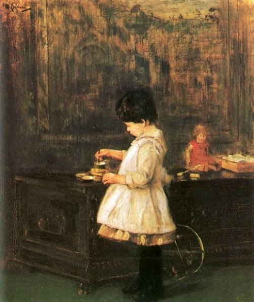 Child At The Coffer