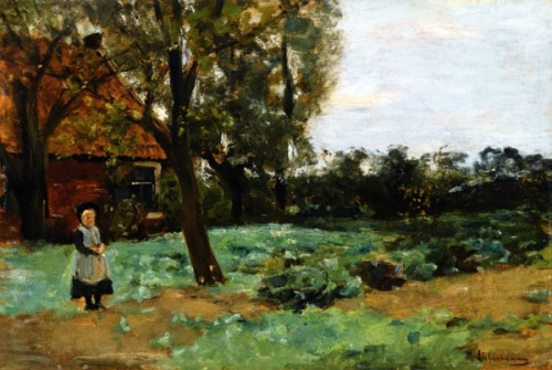 Dutch Farmhouse With Child