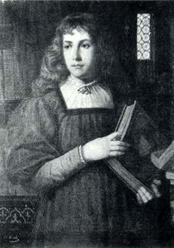 Girl In A Florentine Library