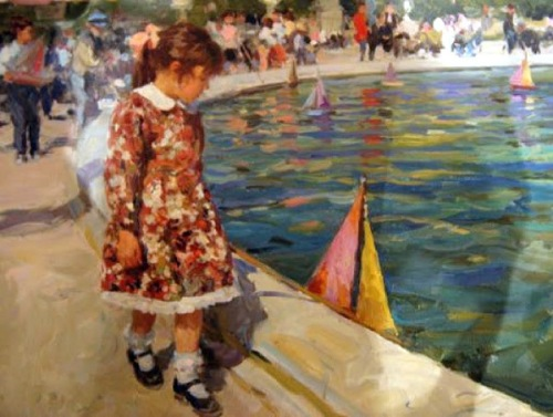 Girl With A Toy Boat