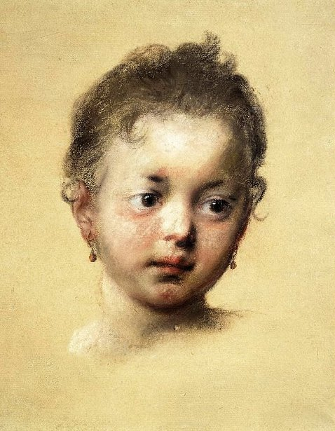Head Of A Child In Face
