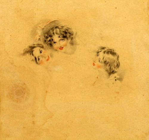 Heads Of Three Young Girls