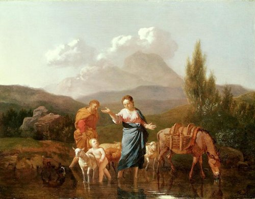 Holy Family At A Stream