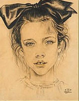 Jeune fille de face