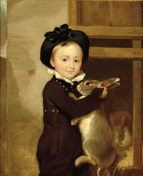 Master Thomas Ethridge With A Rabbit