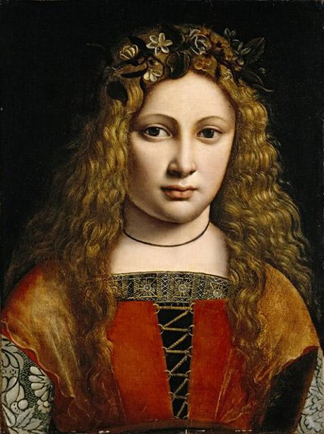 Portrait Of A Youth Crowned With Flowers