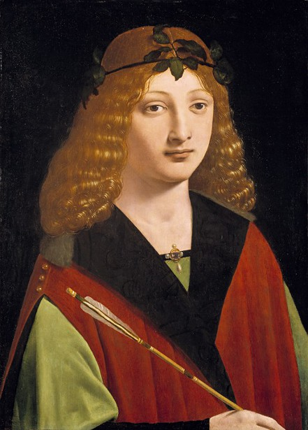 Portrait Of A Youth Holding An Arrow