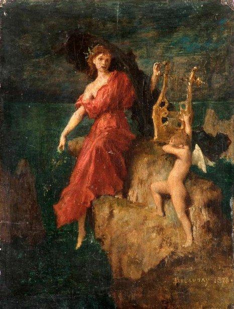 Sappho remet sa lyre à l'Amour