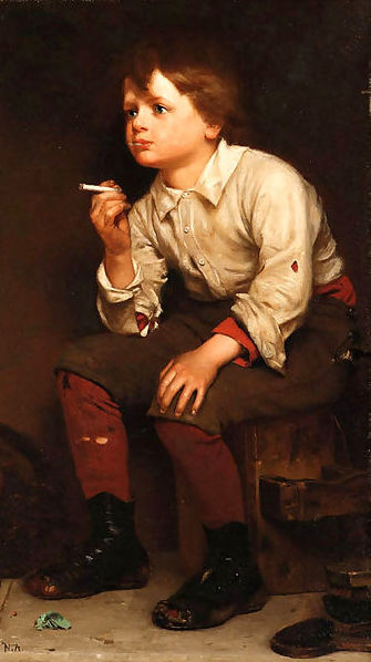 Shoeshine Boy Smoking