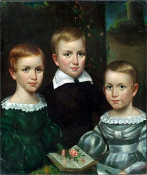 The Dickinson Children - Emily Dickinson with Austin and Lavinia