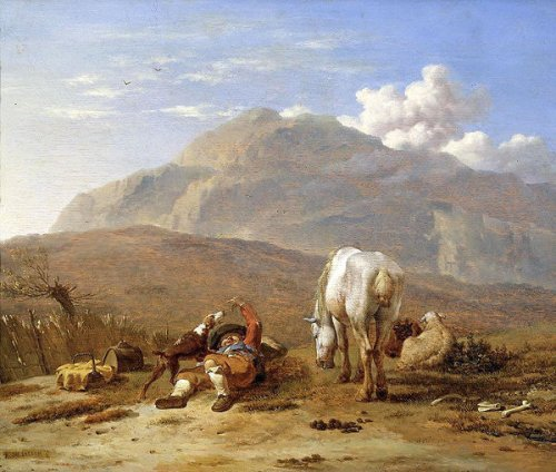The Herding Boy - Italian Landscape With A Young Shepherd