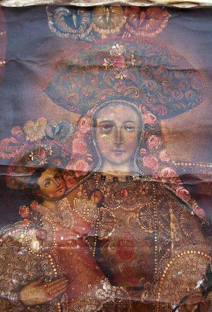 XIX Century, school of Cuzco) - Madonna and Child