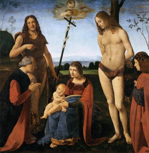 Virgin And Child With St. John the Baptist And Saint Sebastian