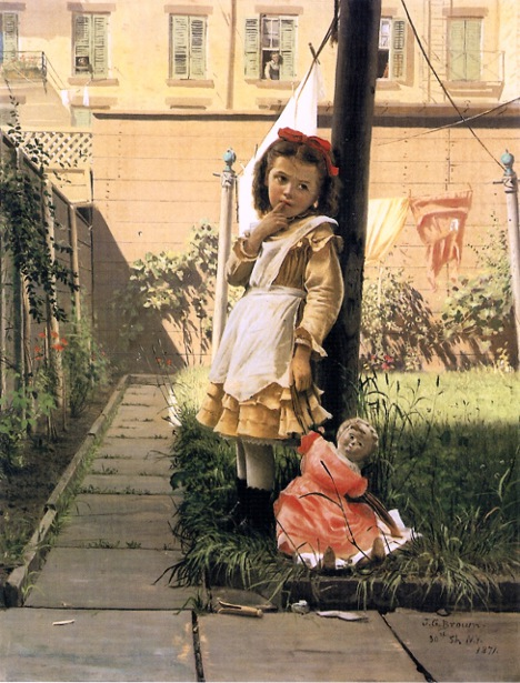 Young Girl In A New York Garden