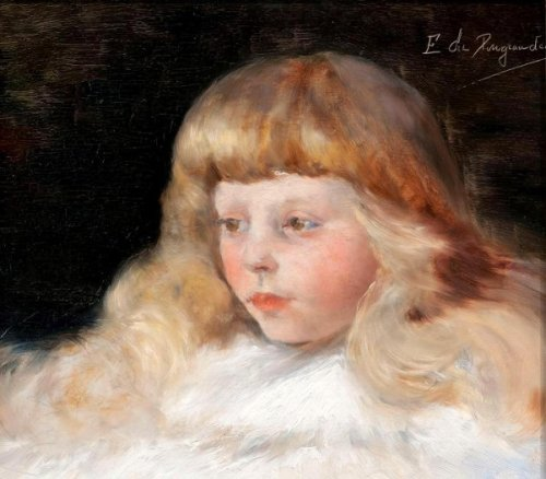 A Girl In White Fur Cape (Annette Osterling)