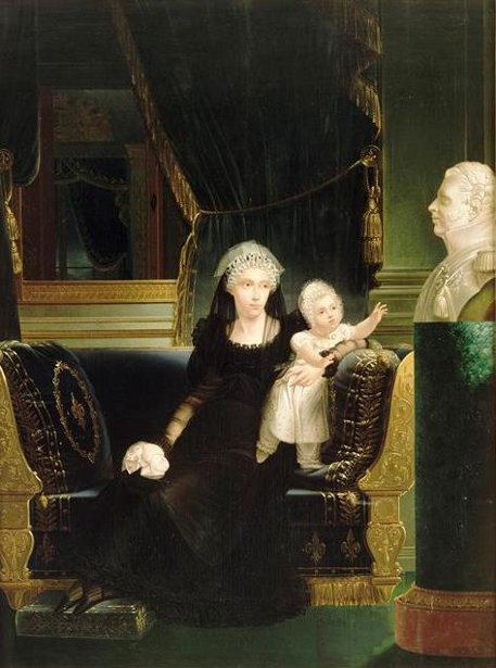 Caroline Of Naples And Sicily With Her Daughter Louise Marie Thérèse d'Artois