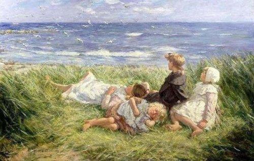 Children In Sunny Cornfields