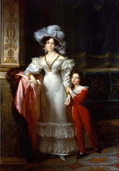 Comtesse de MacMahon and Her Grandson Jules de Bessequier