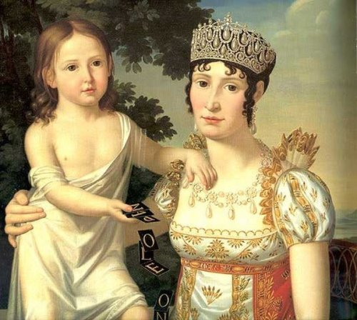 Elisa Bonaparte And Her Daughter