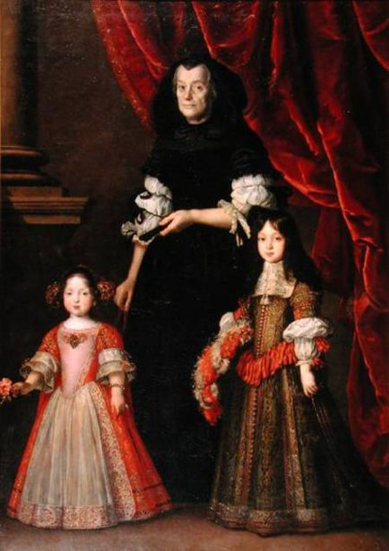 Ferdinando de' Medici And His Sister Anna Maria Luisa With Their Governess