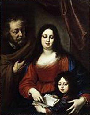 Holy Family (Vittoria della Rovere With Her Son Cosimo III de' Medici)