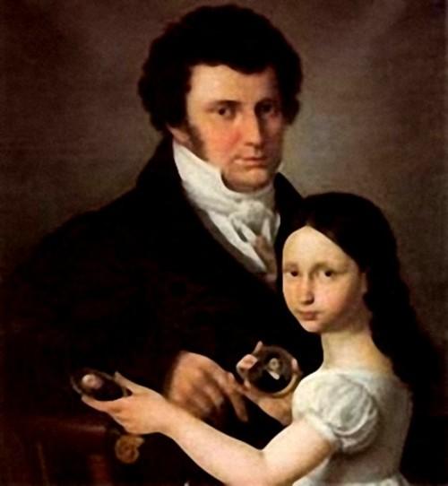 Il Conte Andrea Frediani con la figlia Margherita