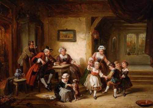 Interior With Dancing Children