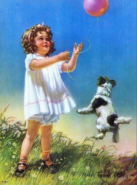 Little Girl And Balloon