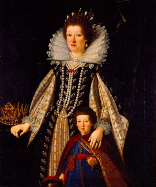 Maria Maddalena of Austria With Her Son, the future Ferdinand II