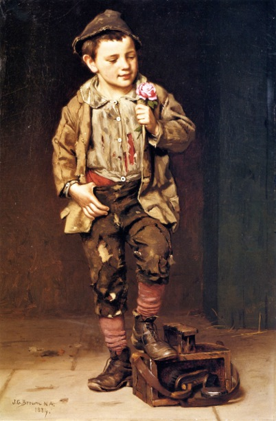 Shoeshine Boy With A Rose