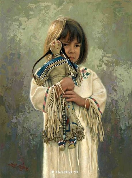 Shy Little Sioux Girl