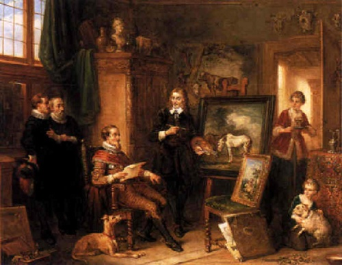 The Artist Showing His Work