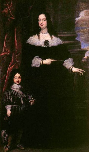 Vittoria della Rovere e Cosimo III as A Child