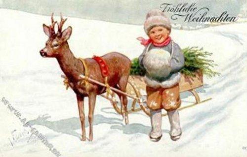 Марта презентация, винтажные рождественские открытки карл фиертаг