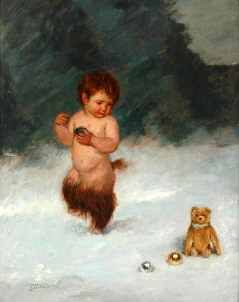 A Faun And A Teddy Bear