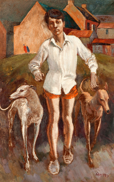 Boy With Greyhounds