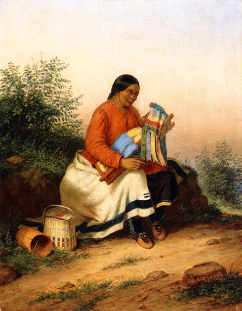 Caughnawaga Woman And Baby