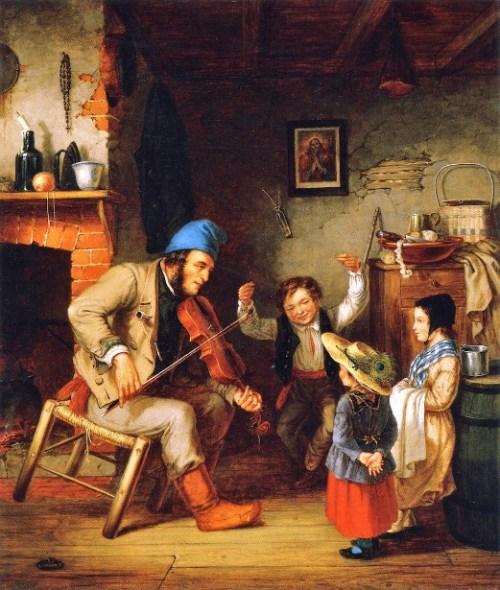 Children - Fiddler and Boy Doing Jig