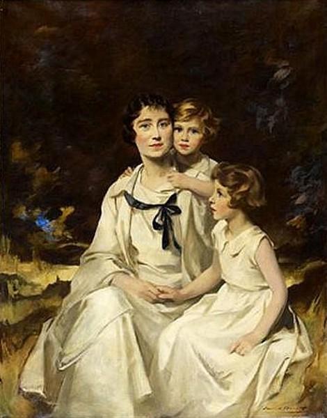 Elizabeth, The Queen Mother, And Her Daughters Princess Elisabeth And Princess Margaret