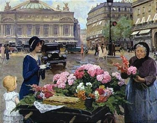 Flower Seller At The Place de l'Opera, Paris
