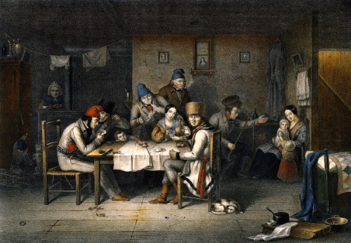 French Canadian Habitants Playing Cards