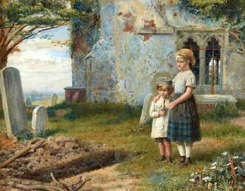 Girls In A Church Yard