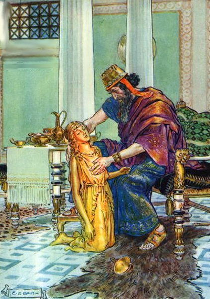 King Midas And His Daughter