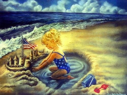 Little Girl At Beach - From Sea To Shining Sea