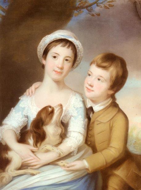 Portrait Of George Henry Fitzroy And Lady Georgina Fitzroy