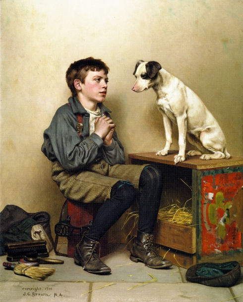 Shoeshine Boy With Dog 2
