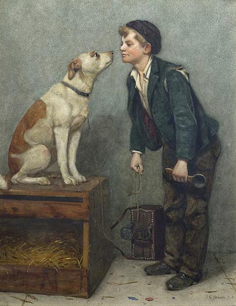 Shoeshine Boy With Dog