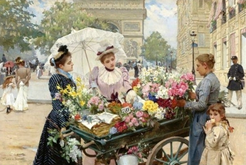 The Flower Seller On The Champs Elysées