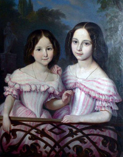 Unsigned (German, XVIII) - Sisters in Pink